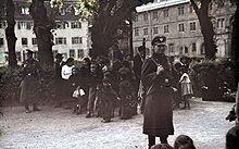Deportasjon av sigøynere under 2.verdeskrig.Bildet er tatt 22 mail 1940